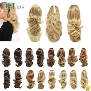Claw Clip in Ponytail Extension Long Curly Wavy Pony Tail Jaw Hair Extensions US