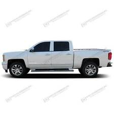 For: SILVERADO 2500HD CREW CAB; Body Side Mouldings Molding CHROME ABS 2014-2018