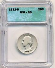 1932-D Quarter ICG Good 6 Key Date