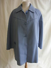 Ladies Coat - Finesse Rainwear, size 12, blue colour, vintage, some marks - 2128