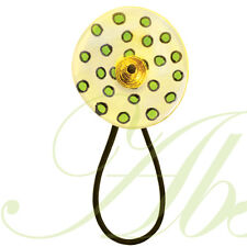 The Leopard Hair Tie Band Pony Tail Holder from Lalo Orna's Can Can Collection
