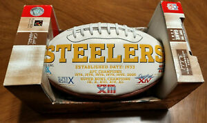 Pittsburgh Steelers Signature Series Team NFL Collectible Full Size Football