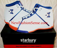 Brand New Starbury One White Athletic Orange High Top Basketball Shoes Size 6