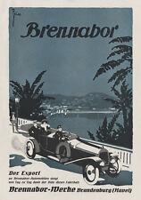 Brennabor Automobile Speichenrad Coupe Brandenburg Plakat Braunbeck Motor A2 292