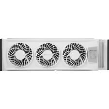 Bionaire 7-INCH 3-Speed 120V Whole House White Triple Window Fan