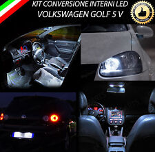 KIT LED INTERNI VW GOLF 5 V CONVERSIONE COMPLETA + LED TARGA + LED POSIZIONE