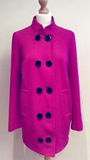 MONSOON PINK COAT BUTTON SIZE 12 WOOL