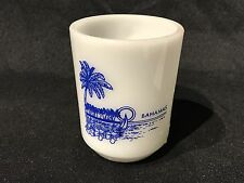 Vintage BAHAMAS Coffee Cup/Mug White Anchor Oven Proof 8 oz  Sailboat Sun Palm
