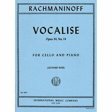 Rachmaninoff - Vocalise Op 34 No 14 For Cello Edited by Leonard Rose Published