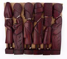 6 porte-couteaux repose couteaux Africains en bois de rose personnage tribal