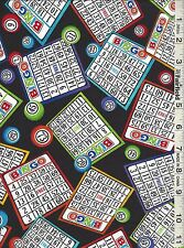 Black Bingo Cards by Timeless Treasures bty