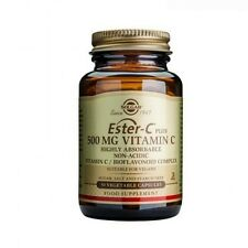 Solgar Ester-C Plus 500 mg Vitamin C Vegetable Capsules 50