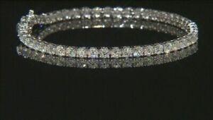 Engagement /& Wedding Fashion Bracelet Colourless Moissanite Bracelet 10kt Gold 10.00Ct Colourless Moissanite Diamond Tennis Bracelet Women