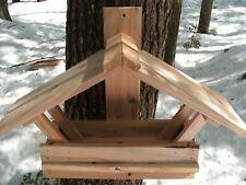Rustic Cedar Handmade Bird Feeders from Maine Winter Summer Fall Spring