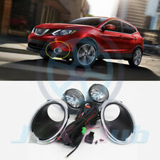 For Nissan Rogue Sport 2017-2019 Fog Light Lamp w/Bulb+Switch+Harness+Cover 1set