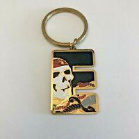 "Pirates of the Caribbean Disneyland Resort ""E"" Keychain Metal Enamel New"