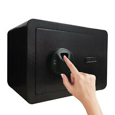 Biometric Safe Box Home Security Money Jewel Gun Wall Safe with Key Office Hotel