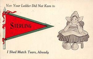 H67/ Sterling Colorado Pennant Postcard c1913 Dutch Child Shed Mutch Tears 7
