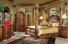AICO by Michael Amini Monte Carlo series solid wood king size bedroom set