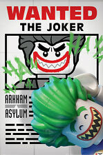 THE LEGO BATMAN MOVIE - MOVIE POSTER / PRINT (WANTED: THE JOKER)