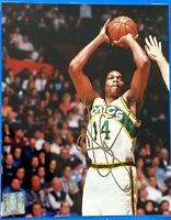 1994 SAM PERKINS GOLD SIGNED NBA 8x10 SEATTLE SUPERSONICS 1-OWNER