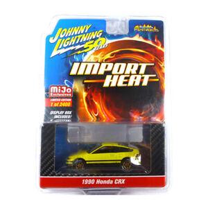 Johnny Lightning JLCP7201 Honda Crx Jaune Maßstab 1:64 Modèle Neuf !°