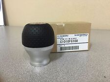 Subaru Genuine STI 6 Speed Aluminum and Leather Shift Knob (p/n C1010FG100)