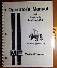 Massey Ferguson MF 255 265 275 Tractor Owner Operator's Manual 1448 326 M8 4/79