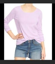 gap sweater Cropped Top size M Fly Open Back Lavender Color New With Tags