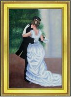 Framed, Renoir Pierre-Auguste Dance in the City Oil Painting Repro, 24x36in