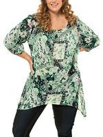 Crinkle Longshirt Bluse Tunika Ulla Popken 46 48 50 52 54 56 58 60 62 64 66 68