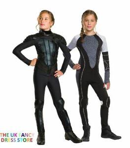 Girls KATNISS Everdeen The Games or Mockingjay Fancy Dress Costume Hunger Games