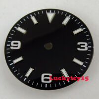 29mm black watch dial fit for ETA 2824 2836 Miyota 8215 movement luminous marks