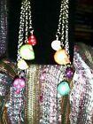 ~Halloween~ Handmade Dangle Mutli-colored Skoll Drop Earrings☆Super Cute On☆
