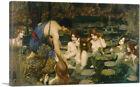 ARTCANVAS Hylas and the Nymphs Canvas Art Print by John William Waterhouse