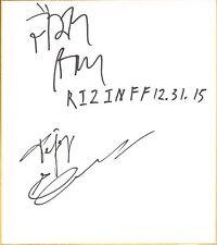 Fedor Emelianenko Jaideep Singh Signed Shikishi Japanese Art Board BAS COA Rizin
