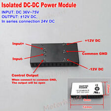 DC-DC Buck Step Down Volt Converter 36V~72V 48V 60V to DC ±12V 24V Power Supply