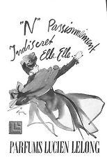 PUBLICITE ADVERTISING PARFUM PERFUME LUCIEN LELONG RENE GRUAU ILLUSTRATEUR 1944