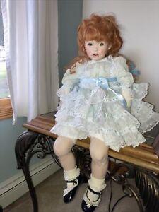 "Donna Rubert  ""Whitney"" Doll, 30"" Tall,  Porcelain, Excellent Auburn Hair"