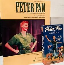 Peter Pan 1960 VHS and Tie-In Songbook featuring Mary Martin Lot of 2