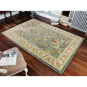 Kendra Woven 45L Green Traditional Style Rug in various sizes circle and runner