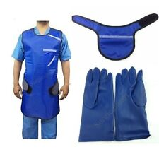 COMBO OFFER Radiation Protective LEAD APRON+HANGER+THYROID COLLAR+LEAD GLOVES