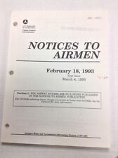 Notices To Airmen Magazine Intersection Departures February 18, 1993 022217R