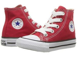 NEW INFANT TODDLER CONVERSE RED HI FREE SHIPPING MEDIUM WIDTH