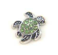 Floating Charms Mini Charm Green Turtle Crystal Living Memory Glass Locket 12mm