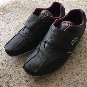 Lacoste Men's Casual  Shoes Dark Brown Sz 7.5 us Excelent