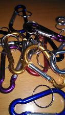 Un moschettone 7 cms alluminio colori, portachiavi chiavi colore: casuale