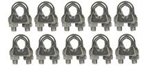 Cable Clamps 1/8� U-Bolts Galvanized Wire Rope Clamps Clips 10 Pack