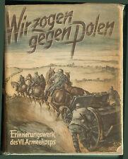 GUERRE KRIEG 39/45 POLOGNE POLAND LIVRE ERINNERUNGSWERK DES VII. ARMEEKORPS 1939