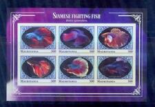 mauritania / 2018 siamese fighting fishes./mnh.good condition